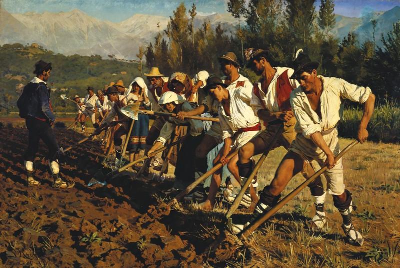 Peder Severin Krøyer - Italienske markarbejdere. Abruzzerne (1880)
