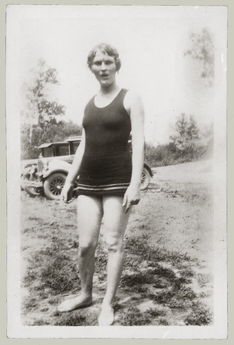Woman in bathing suit