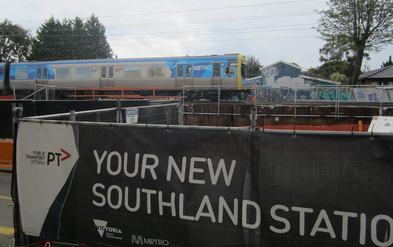 Southland station under construction November 2016