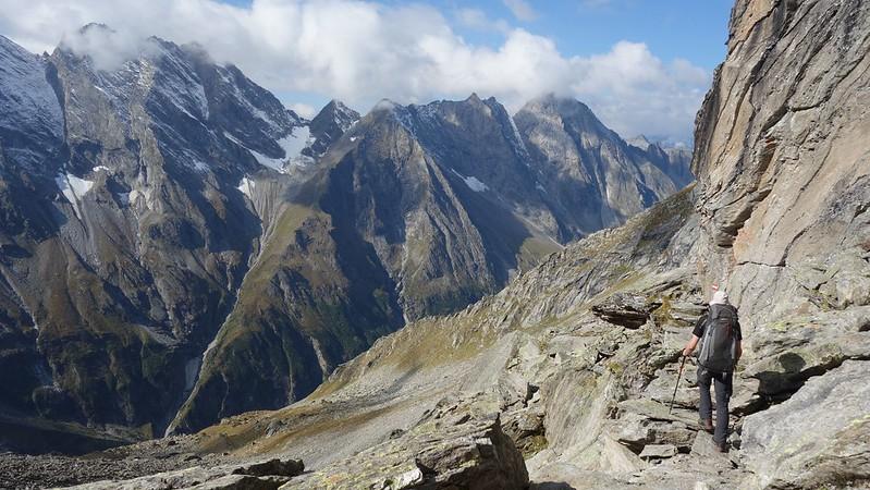 Afdaling van de Lapenscharte naar de Greizerhütte.