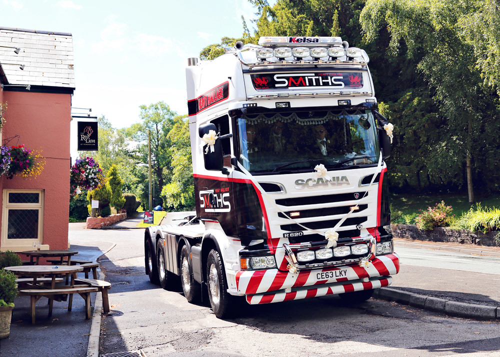Keltruck and Scania provide wedding transport for Smith's Heavy Haulage director