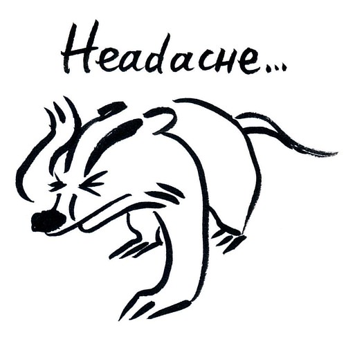 Badger headache- InkTober Day 25 #inktober2016 #inktober #badger #badgerlog #parenting #headache