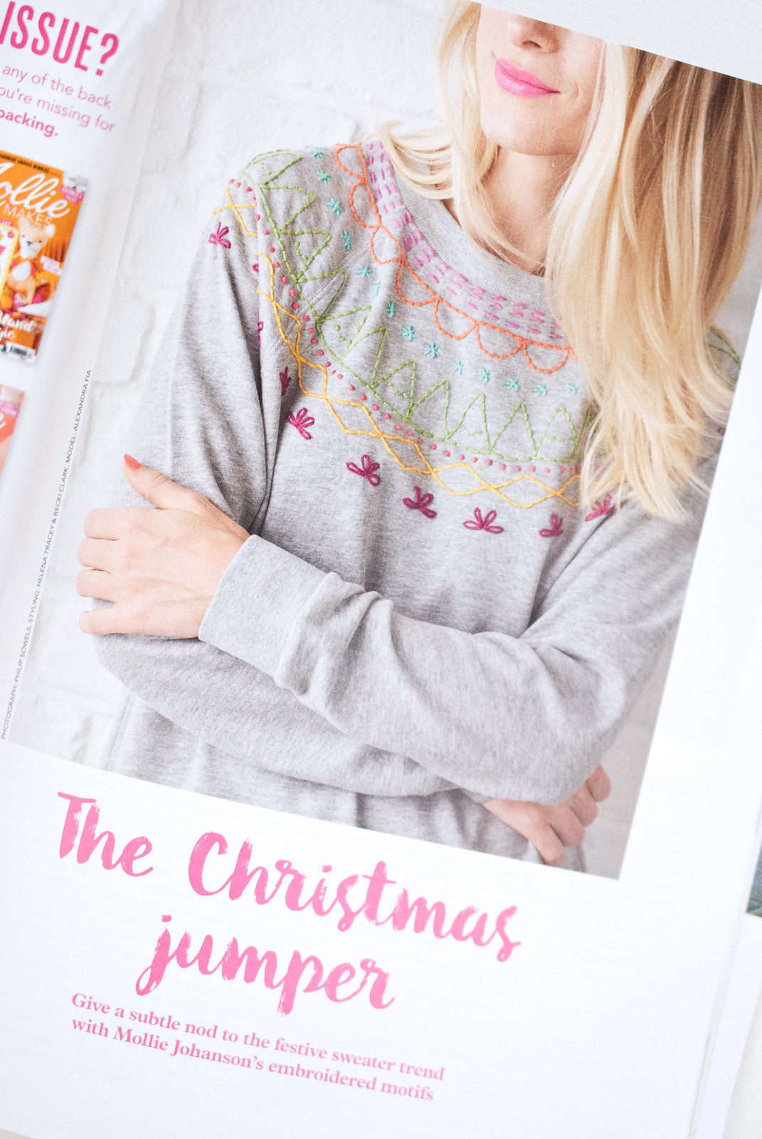 in print // christmas stitching