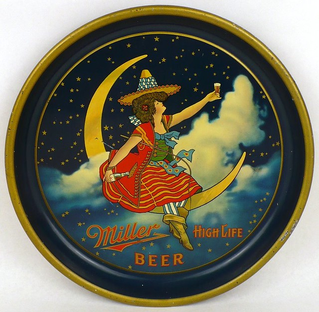 Miller-High-Life-Beer-Serving-Trays-10-16-inches-Miller-Brewing-Company