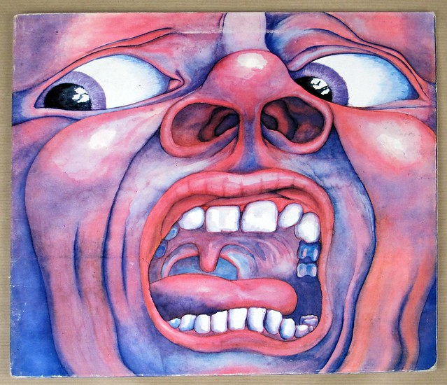 "KING CRIMSON IN THE COURT OF THE CRIMSON KING UK pink rim a2/b3 FOC 12"" LP VINYL"