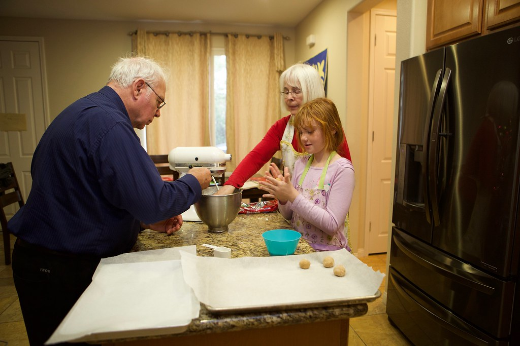 Making cookies with granparents