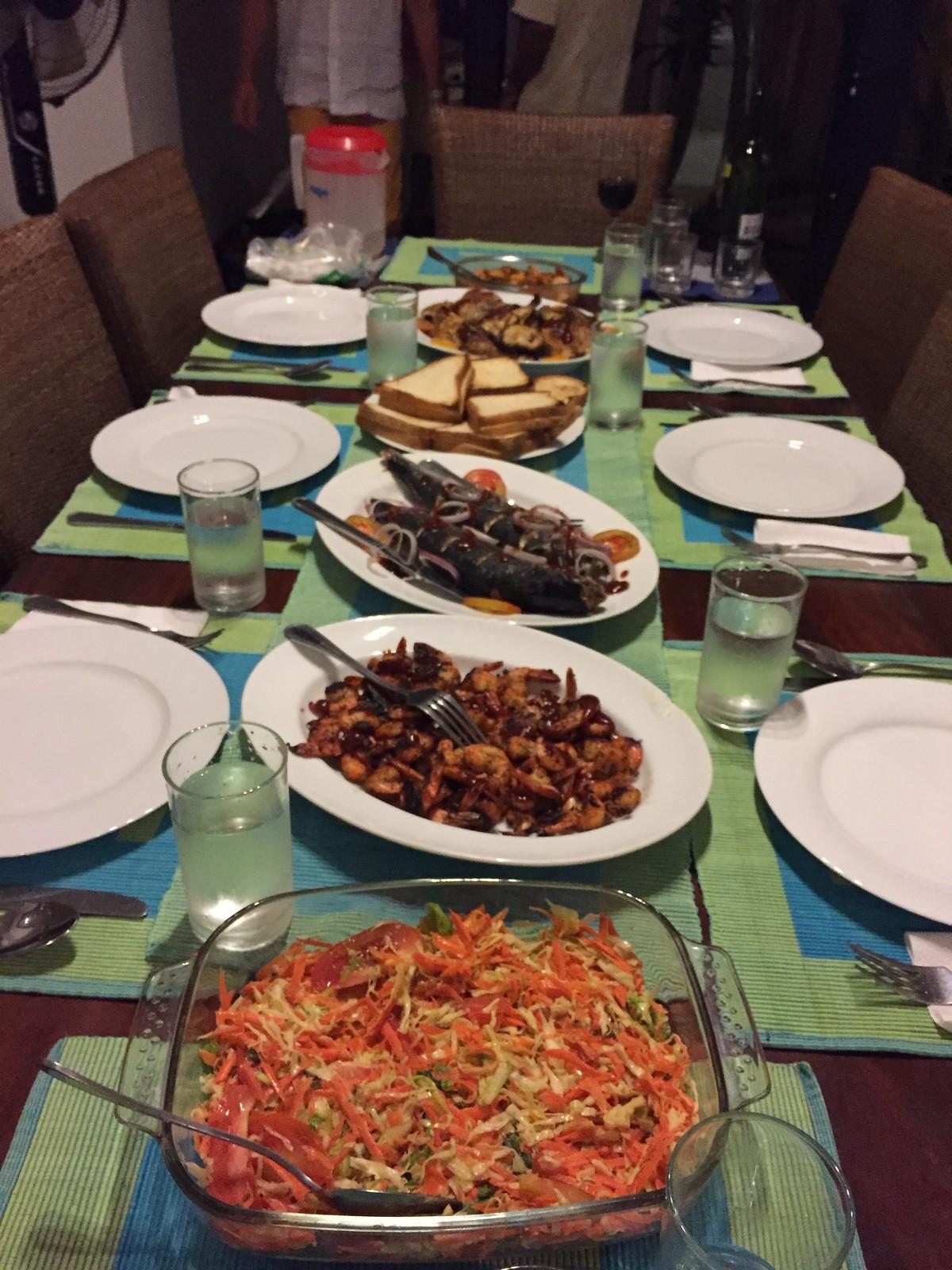 dinner at villa