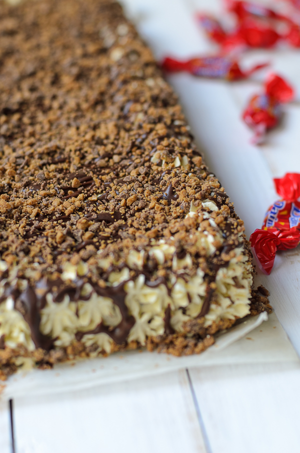 Daim chocolate and Hazelnut Butterscotch Torte