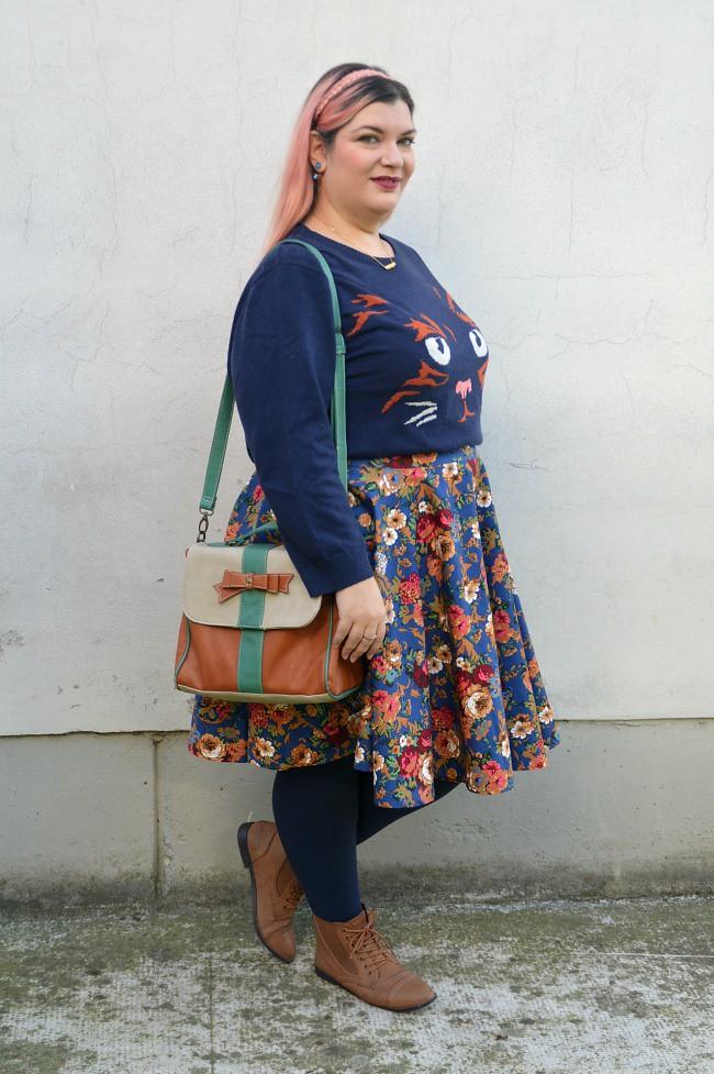 Outfit blu e floreale (3)