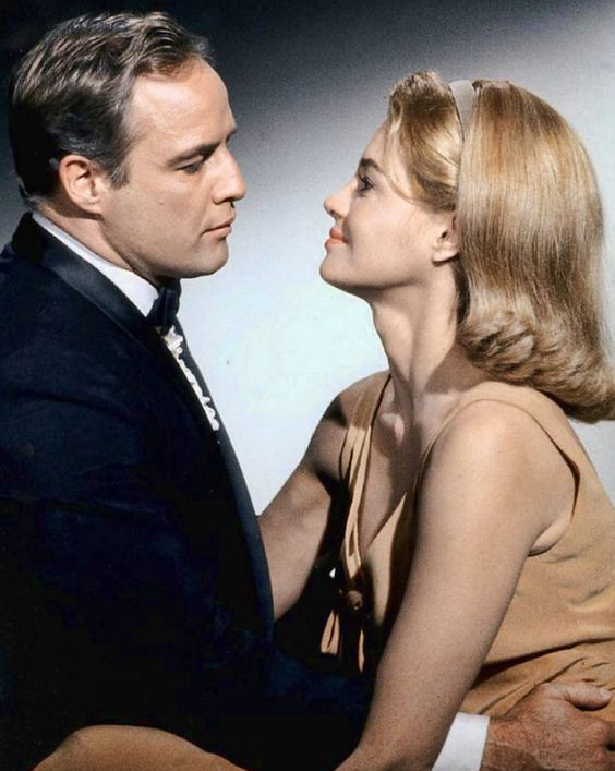 The Chase - 1966 - Promo Photo 1 - Marlon Brando and Angie Dickinson