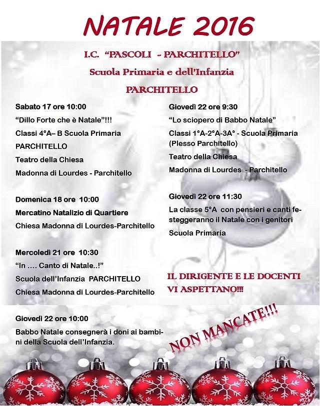 Noicattaro. Eventi Natale Pascoli-Parchitello intero