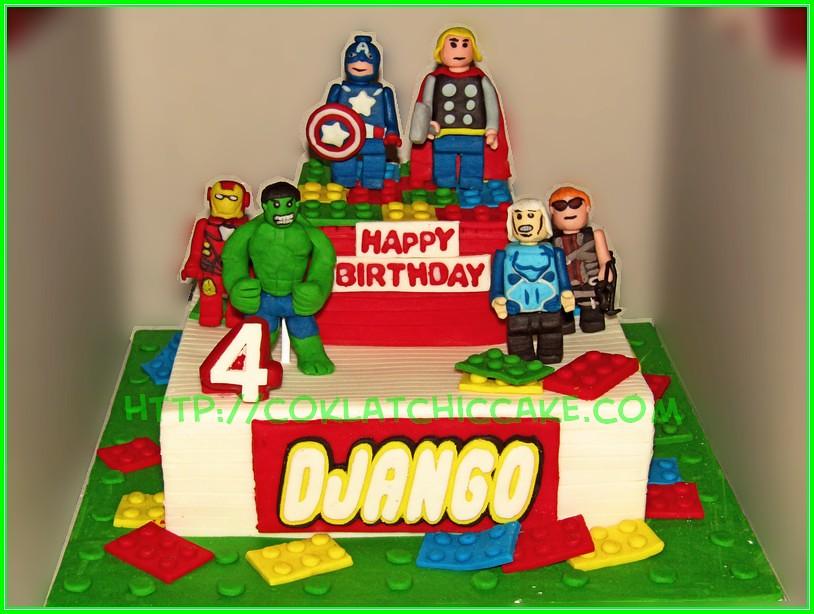 Cake Lego Avengers