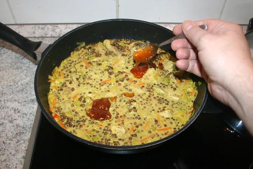 43 - Mango-Chutney addieren / Add mango chutney
