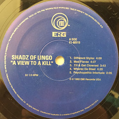 SHADZ OD LINGO:A VIEW TO A KILL(LABEL SIDE-A)