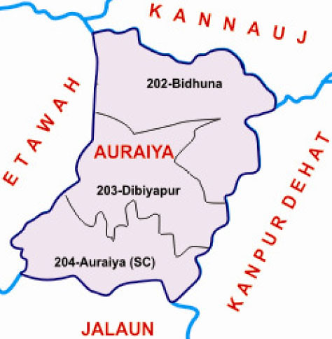 Auraiya district Uttar Pradesh Election 2017