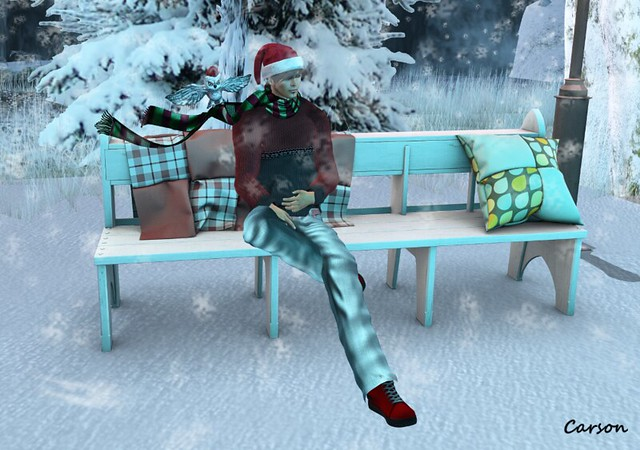 K&A Design (Cart Sale) LDR Justin Trousers FA Red Sneakers MoonAmore+Cureless - Xmas Owl Scarf