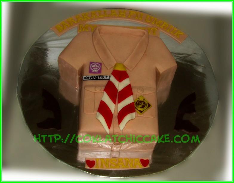 cake baju pramuka