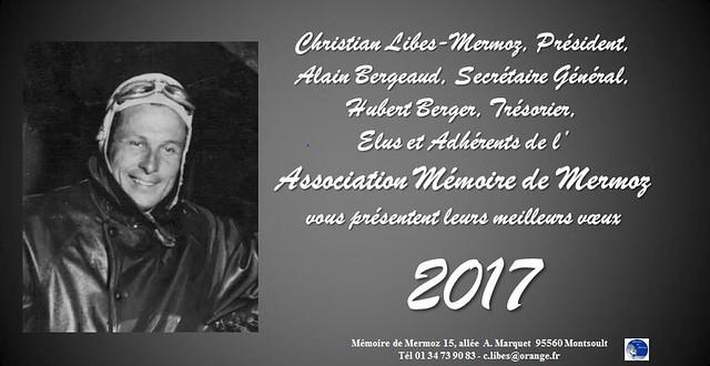 Carte de voeux Mémoire de Mermoz 2017