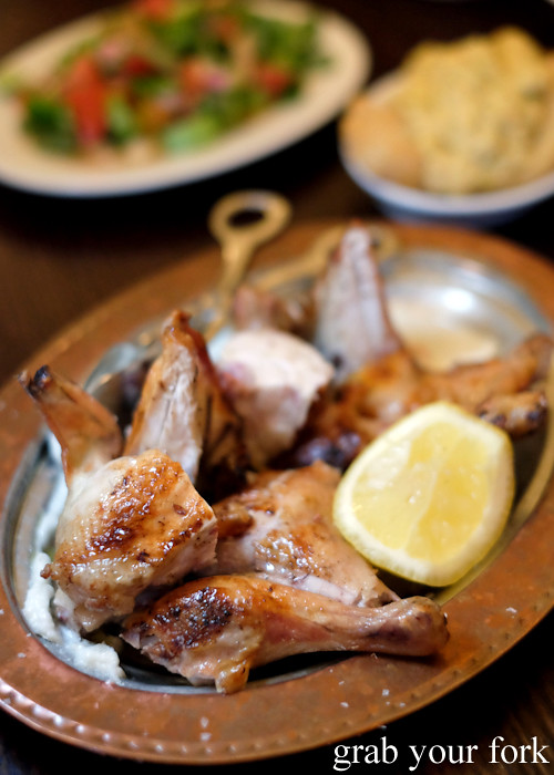 Whole chicken cooked over charcoal and wood at Stanbuli in Enmore