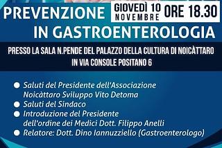 Noicattaro. Convegno gastroenterologia front