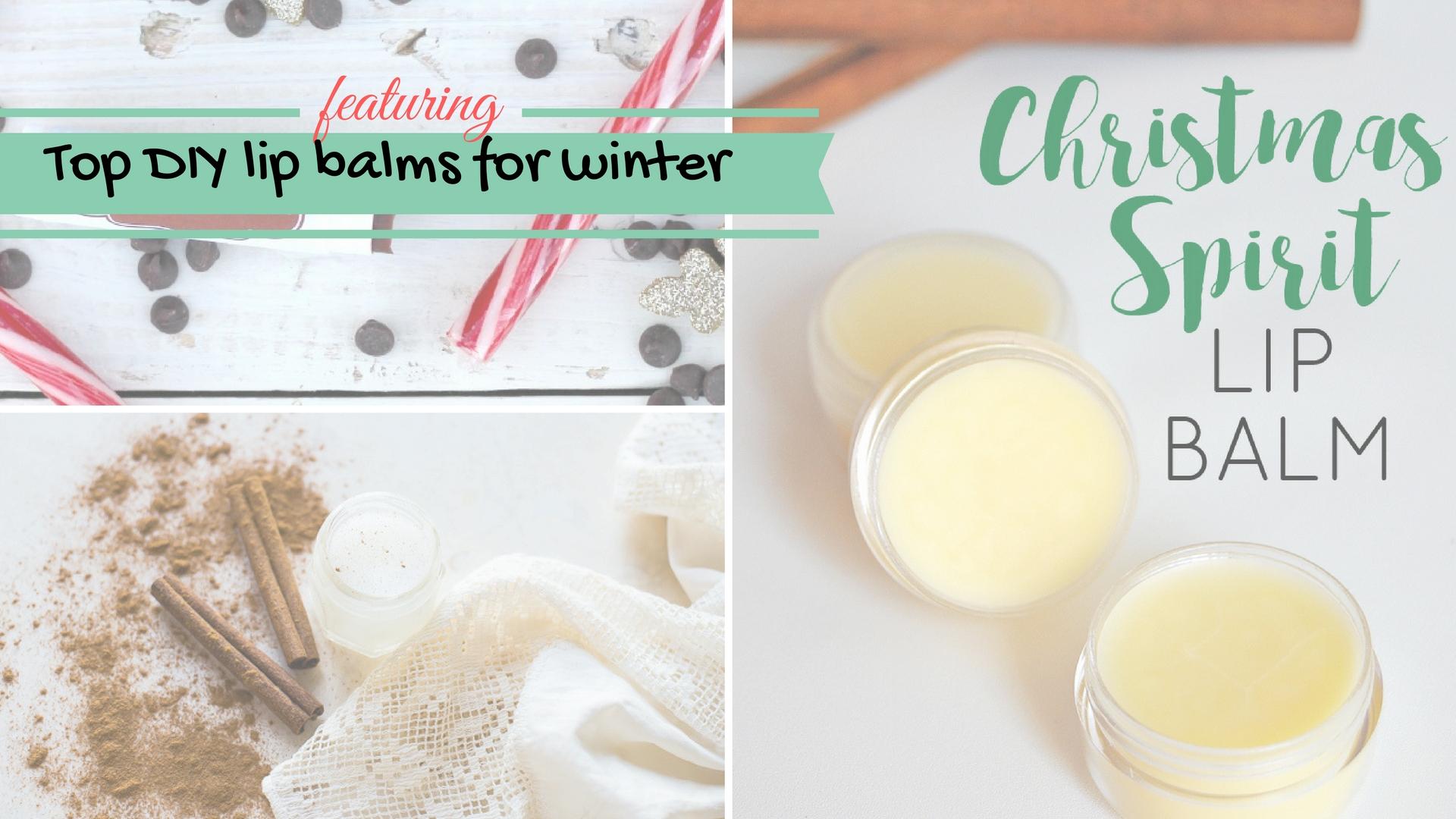 Top DIY lip balms for winter