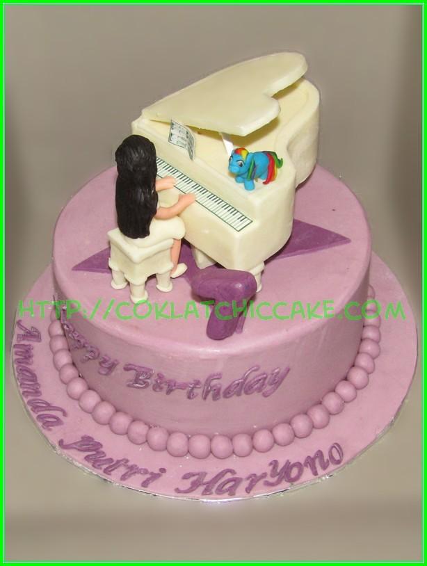 Cake Piano Amanda Jual Kue Ulang Tahun