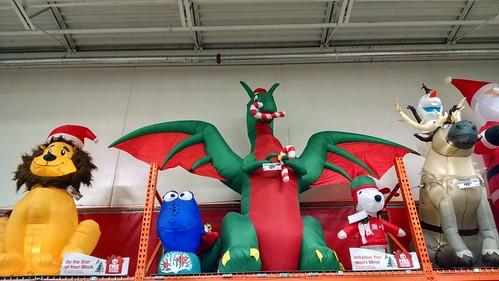 It's the Christmas dragon!