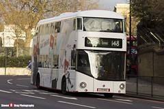 Wrightbus NRM NBFL - LTZ 1143 - LT143 - YouTube DT - Camberwell Green 148 - RATP London - London - 161203 - Steven Gray - IMG_8575