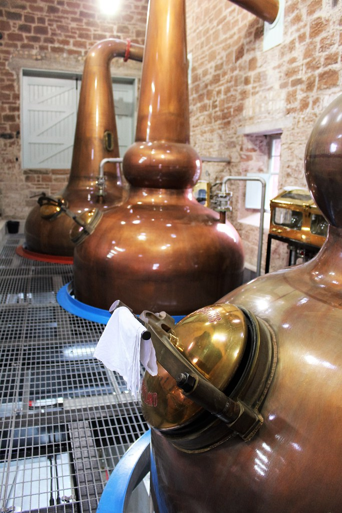 Whisky Stills at Annandale Distillery, Scotland