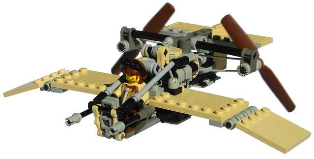 """Dragonfly"" Super-Light Diesel Scout Aircraft Mk. XXX (front)"
