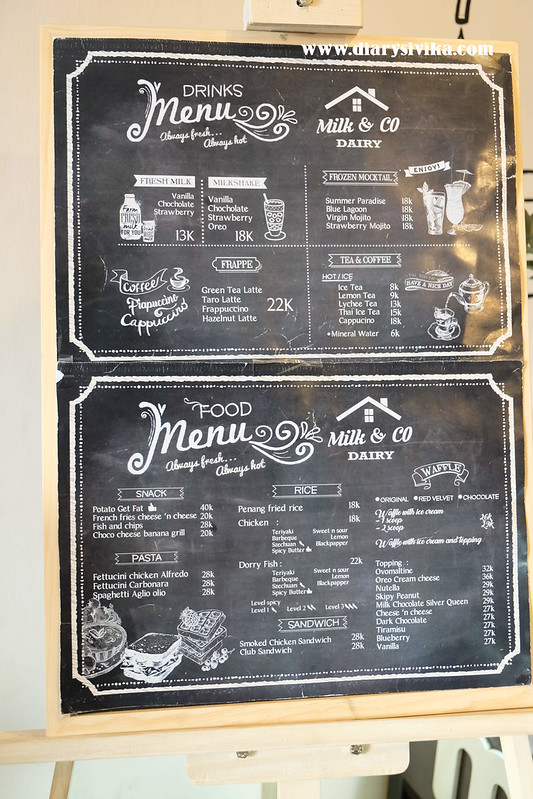 menu milk n co surabaya