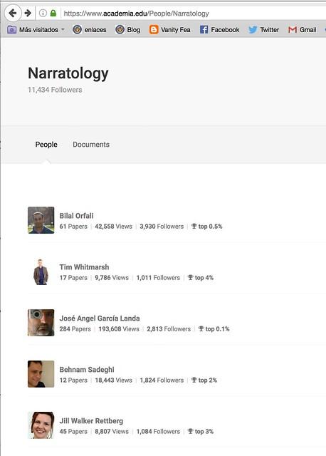 Narratology en Academia