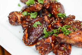 Sriracha Sauced Smoke and Fried Wings
