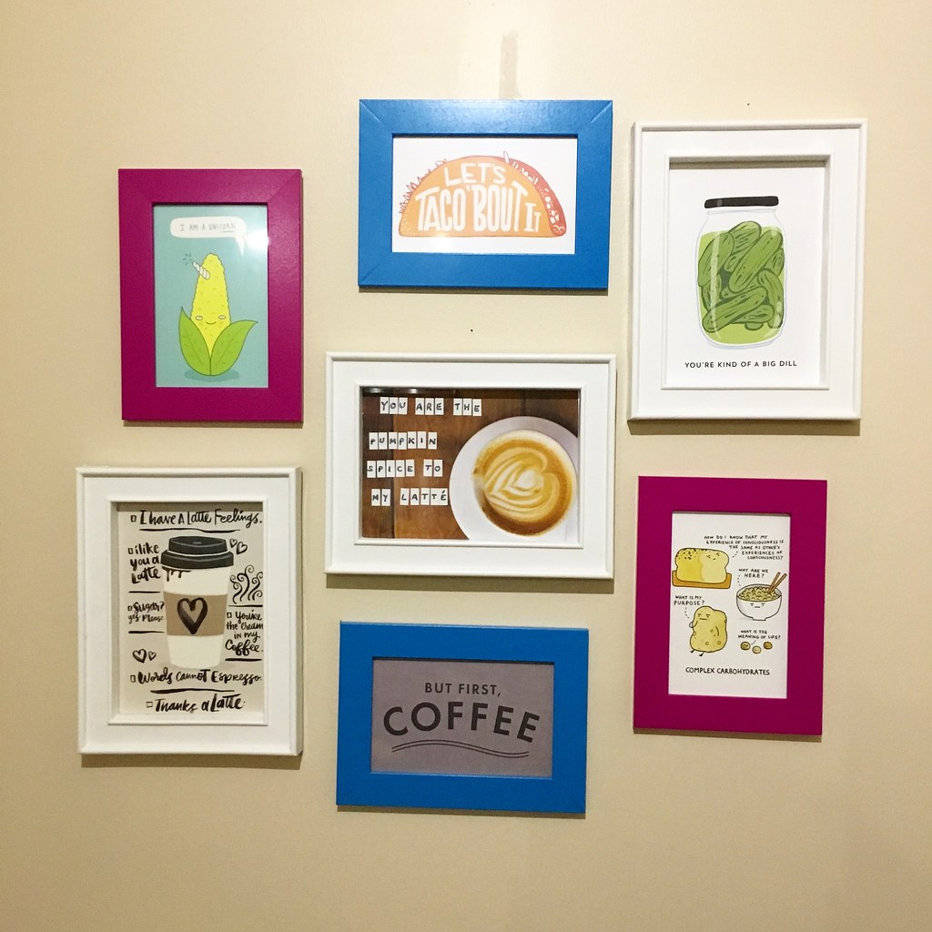 The Kitchen nook gallery wall