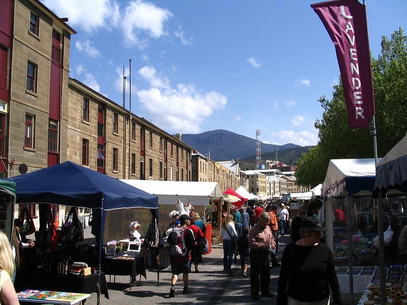 Hobart: Salamanca Market, October 2006