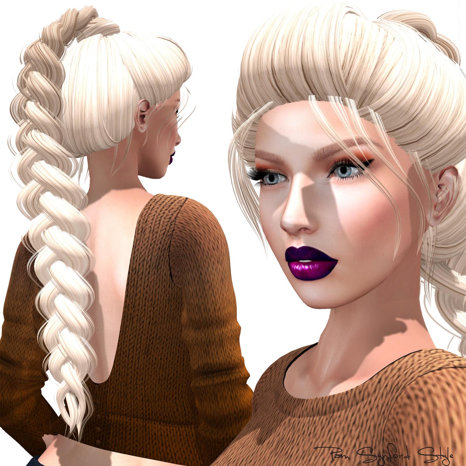 Fabia Mesh hair * White Queen