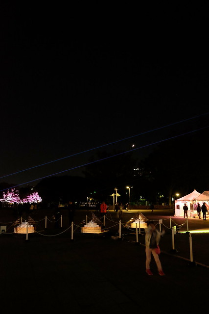 play with laser light projection Ueno Akari Park 2016 15