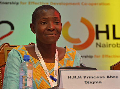 Princess Abzeita Djigma, of Burkina Faso, CEO of AbzeSolar, which produces 'MAMA-light' solar lamps