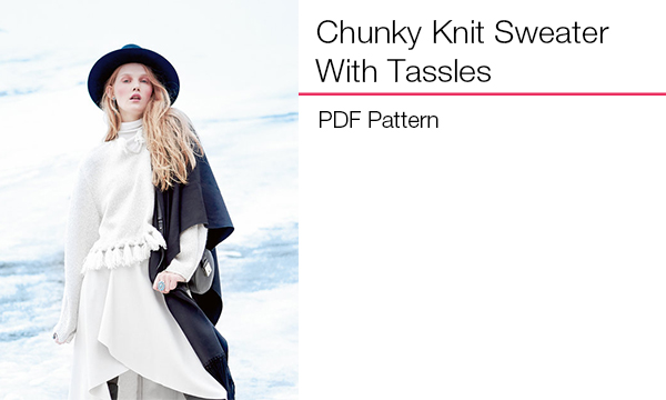 Chunky Knit Sweater With Tassles