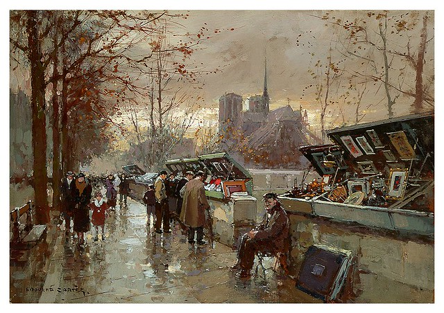 004-Libreros en Paris-Edouard Leon Cortes-rehs galleries