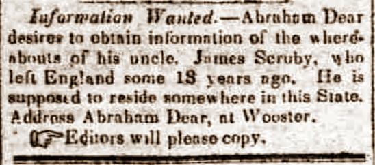 James Scruby newspaper inquiry 1851