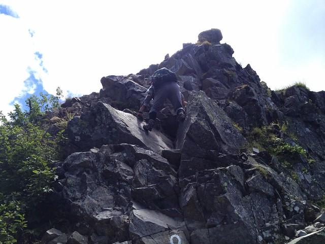 西穂高岳 西穂高口ルート 岩稜