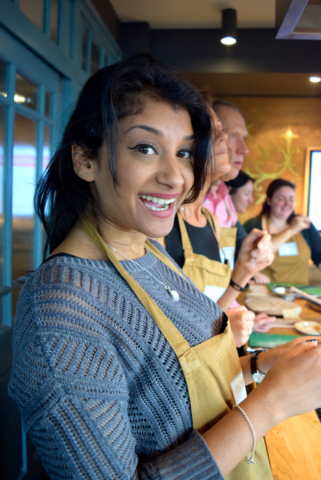 Sherin at the Jamie Oliver Cookery School | www.rachelphipps.com @rachelphipps