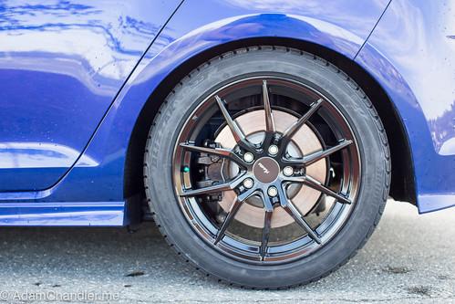 Mk7 2016 Golf R Advanti Hy Hybris Black Painted Wheels