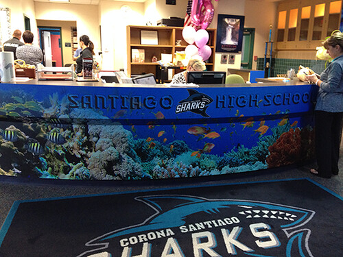 Santiagos High School Sharks Lobby