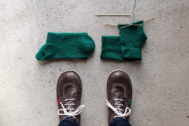 Les chaussettes vertes