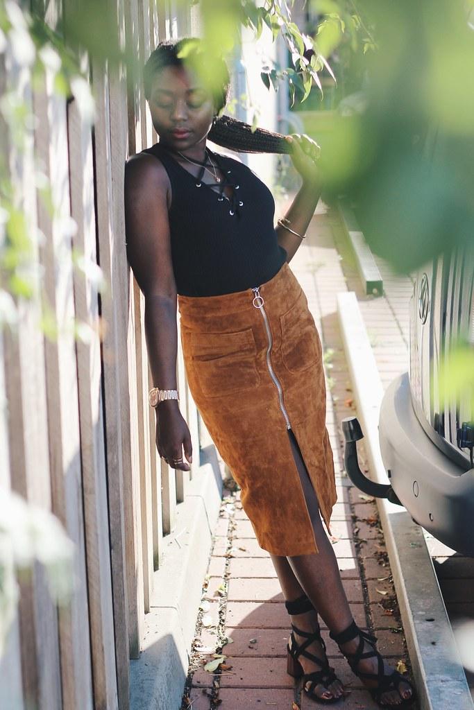 Suede skirt Streetstyle lisforlois
