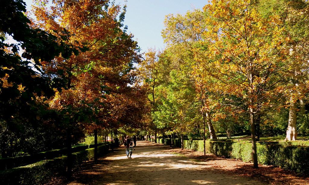 Jardines de Madrid en otoño