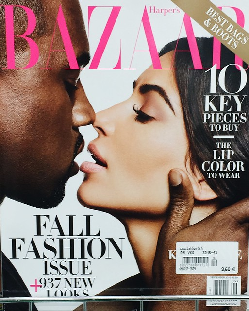 fall fashion, kim kardashian and kanye west, harpers bazaar, cover, kansi, kansikuva, syyskuun numero, september issue, 2016, covers, muotilehti, fashion magazine, kim & kanye cover image,