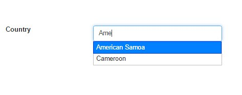 jquery auto complete country textbox